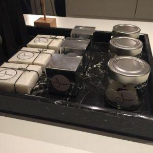 LIJNS marmeren tray Negro Marquina 10mm