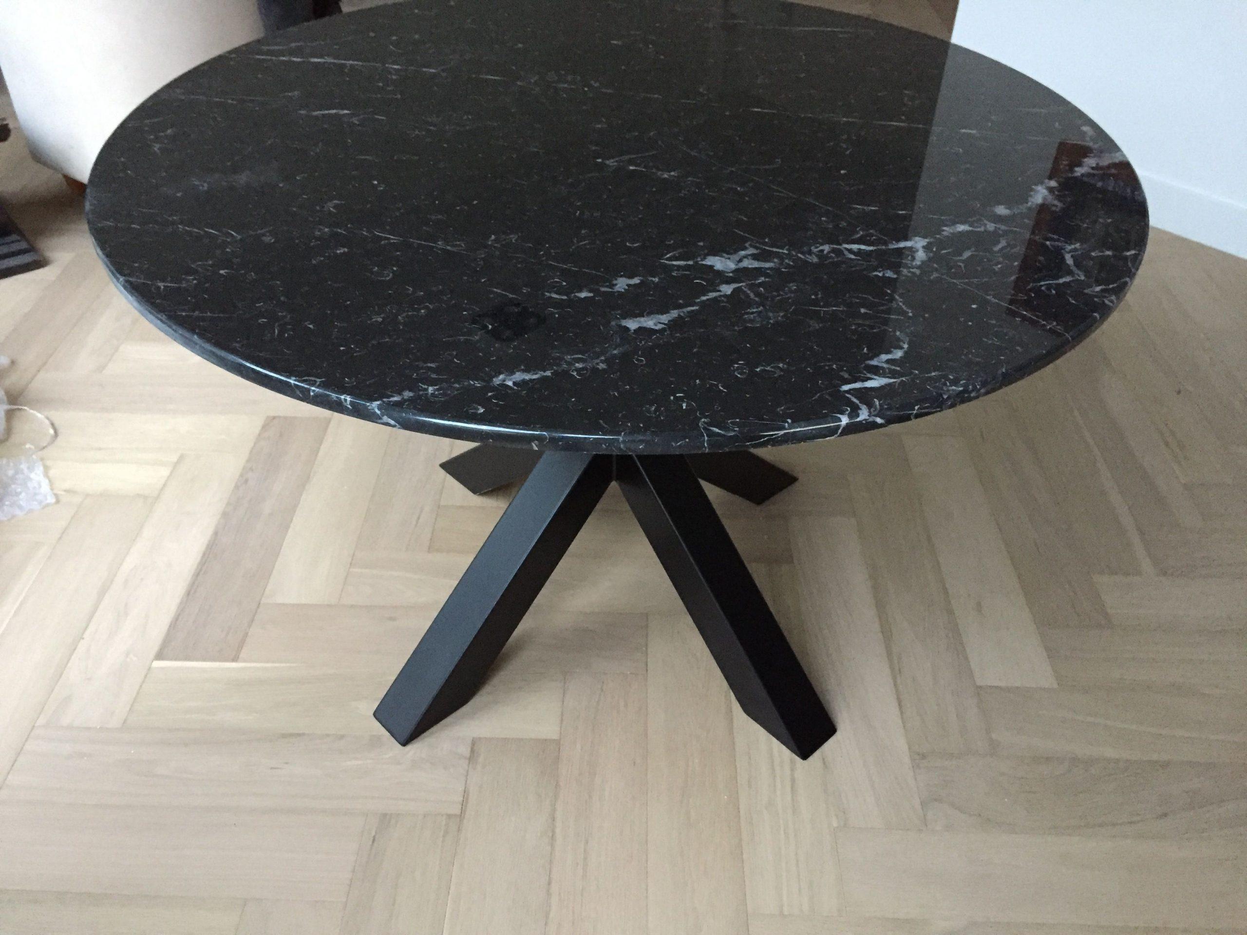 Marmeren tafel Negro Marquina