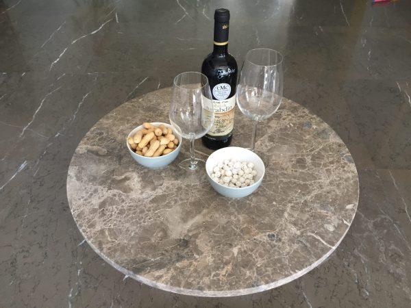 tafelblad van Lijns marmer