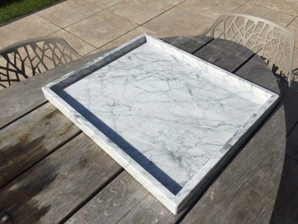 LIJNS Marmeren Tray Carrara 50x60