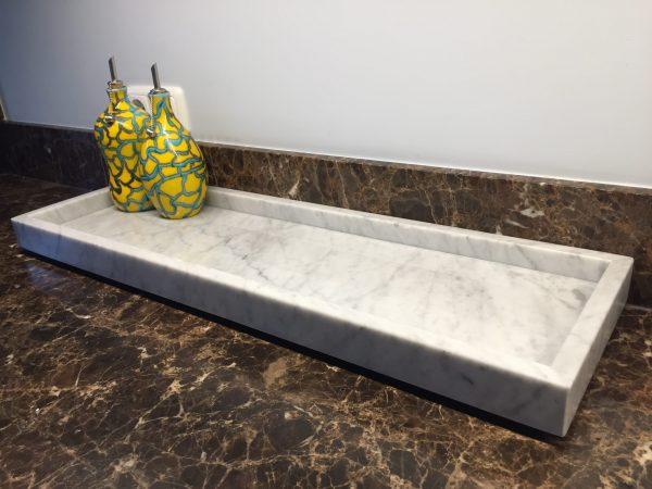 LIJNS marmeren tray Carrara 2cm(2)