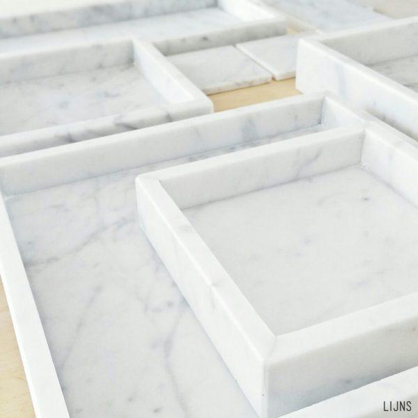 Lijns marmeren tray bak dienblad