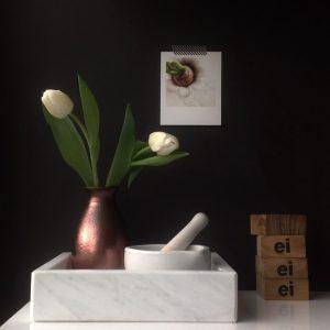 marmer lijns marble tray marmeren bak