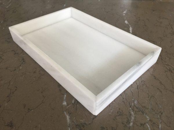 marmeren tray LIJNS Blanco Andaluz