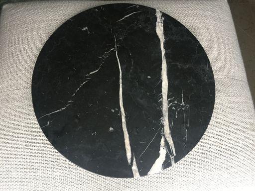 tafelblad van marmer zwart